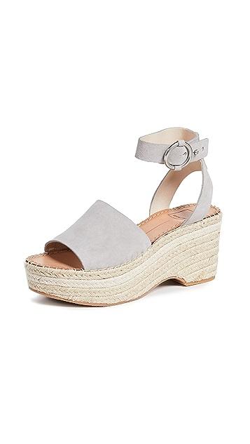 Dolce Vita Lesly 踝带编织底坡跟绑带凉鞋