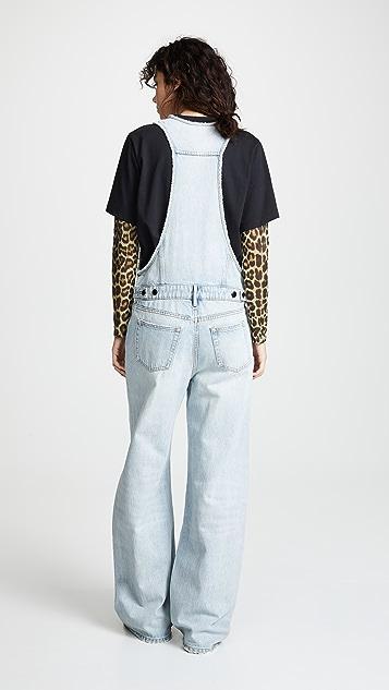 Denim x Alexander Wang 解构式连体裤