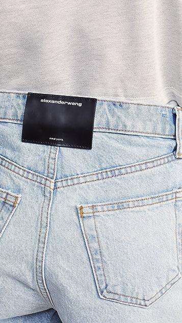 Denim x Alexander Wang Bite 短裤