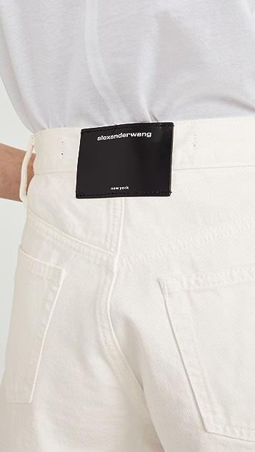 Denim x Alexander Wang 前拉链短裤