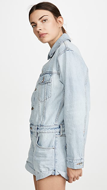 Denim x Alexander Wang 短裤连身衣