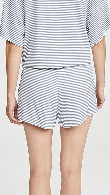 Eberjey Sadie 条纹运动短裤