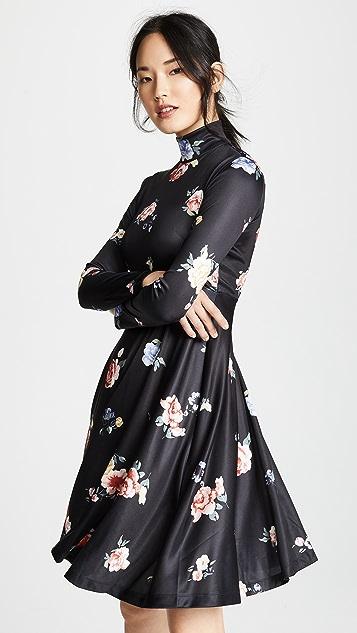 Edition10 印花天鹅绒连衣裙