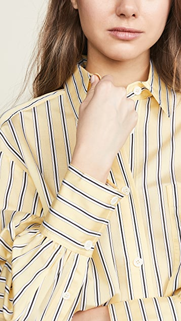 Edition10 条纹系扣衬衣