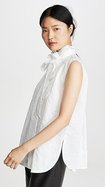 Edition10 无袖绑带领口女式衬衫