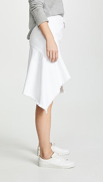 ei8htdreams 牛仔布不对称半身裙