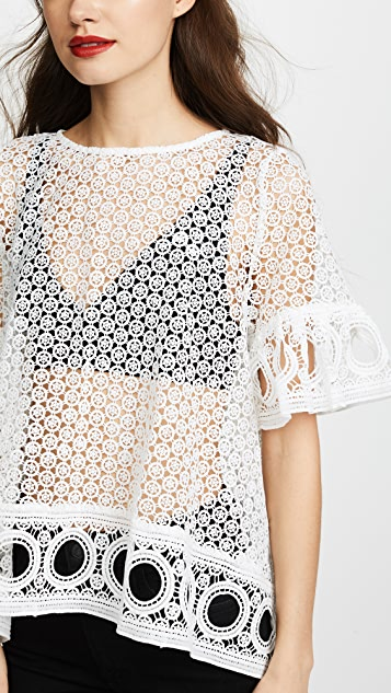 ENGLISH FACTORY 蕾丝女式衬衫