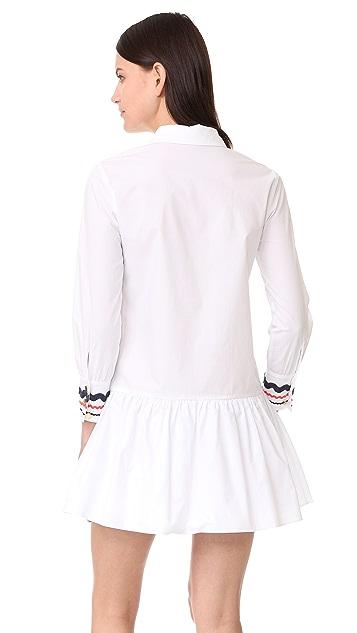 ENGLISH FACTORY 低腰有领连衣裙