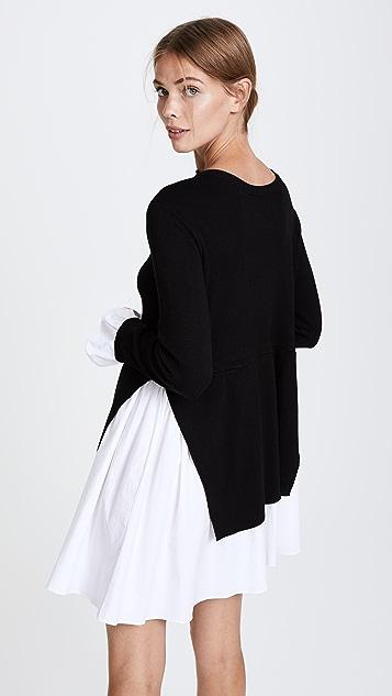 ENGLISH FACTORY 针织拼接连衣裙