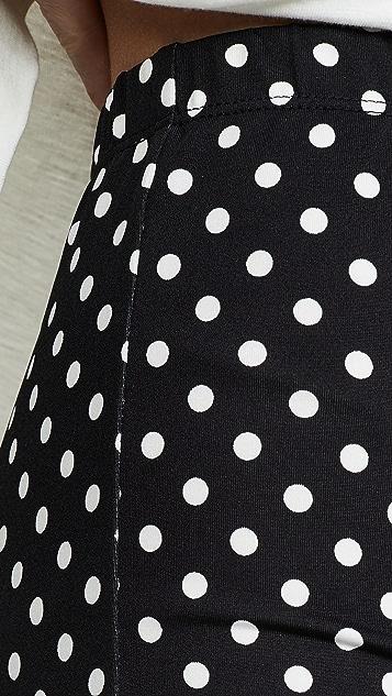 ENGLISH FACTORY 圆点花纹机车短裤