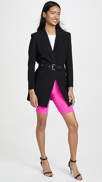 ENGLISH FACTORY 霓虹粉单车短裤