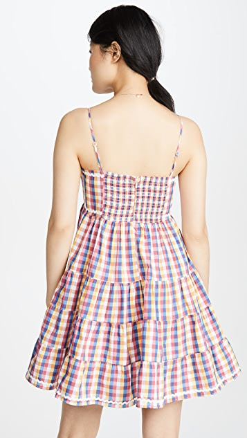 ENGLISH FACTORY Gingham 迷你连衣裙