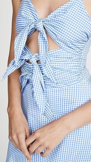 ENGLISH FACTORY 绑带吊带连衣裙