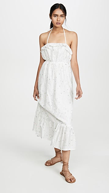 ENGLISH FACTORY Florent 及踝连衣裙