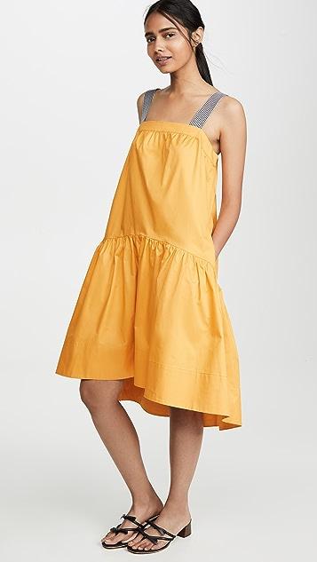ENGLISH FACTORY Shade 中长连衣裙