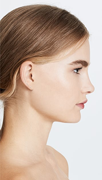 EF Collection 14K 金弧形条扣耳环
