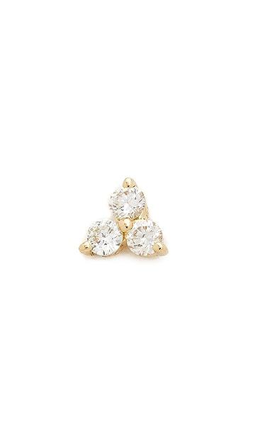 EF Collection 三钻石单耳钉