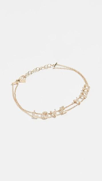 EF Collection 14K 金钻石手链