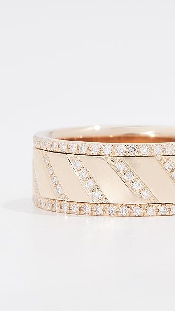 EF Collection 14k 多钻石旋转戒指