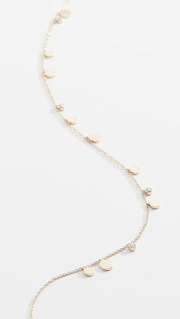 EF Collection 14K 金钻石五彩纸屑链式项链