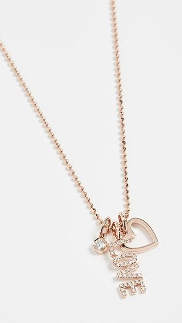 EF Collection 14k Diamond Love 吊坠项链