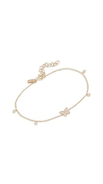EF Collection 14k 钻石蝴蝶包镶链条手链