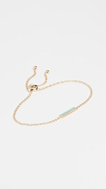 EF Collection 14k 钻石和珐琅条扣链式手链