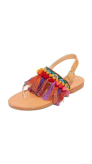 Elina Linardaki Dizzy Parrot 夹趾凉鞋