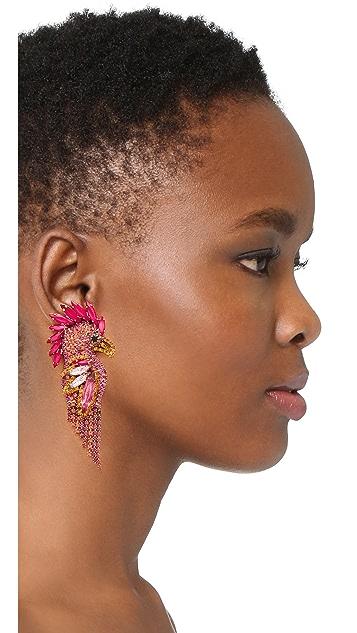 Elizabeth Cole Fuchsia 耳环