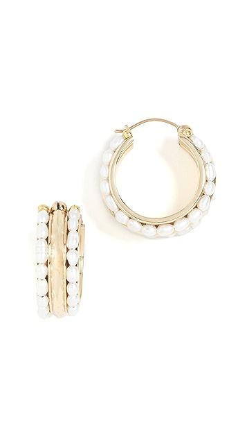 Ellery Berlot 经典米粒珍珠圈式耳环