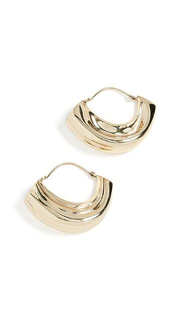Ellery Arturo 纹理圈式耳环