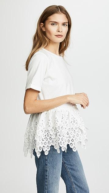 endless rose 蕾丝 T 恤
