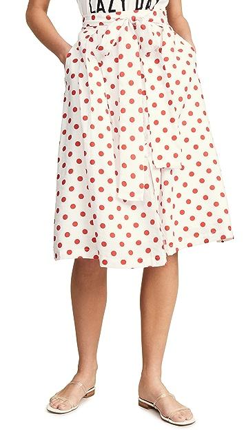 endless rose 红色圆点花纹半身裙