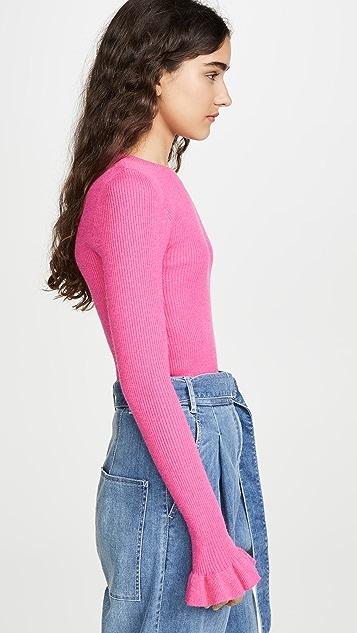 endless rose 喇叭袖口针织上衣