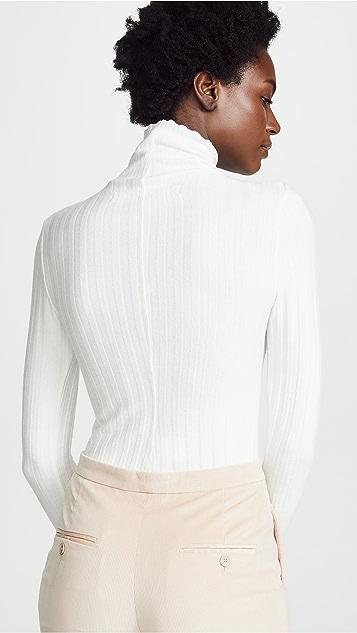 Enza Costa 罗纹设计短款高领上衣