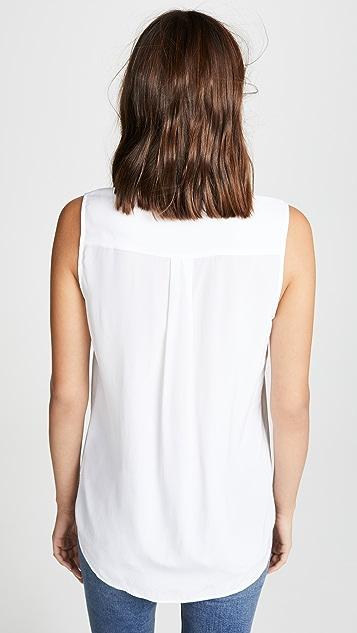Equipment 无袖修身标志性女式衬衫
