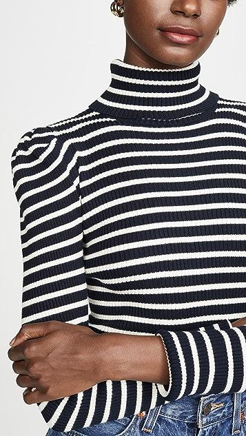 525 America 条纹泡泡袖套头衫
