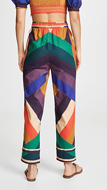Farm Rio Amanda 条纹长裤