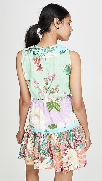 Farm Rio 混合花朵迷你连衣裙