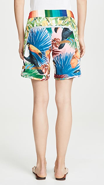 Farm Rio 热带风格海滩短裤