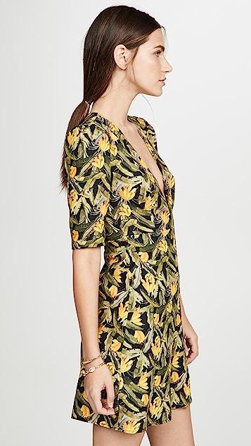 Farm Rio 迷你香蕉 V 领连衣裙