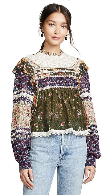Farm Rio Mixed Liberty 女式衬衫