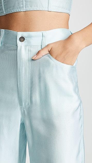 Fleur du Mal 丝质牛仔裤
