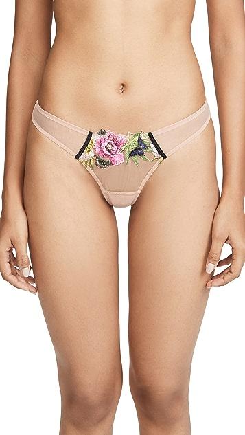 Fleur du Mal 迷人刺绣丁字裤