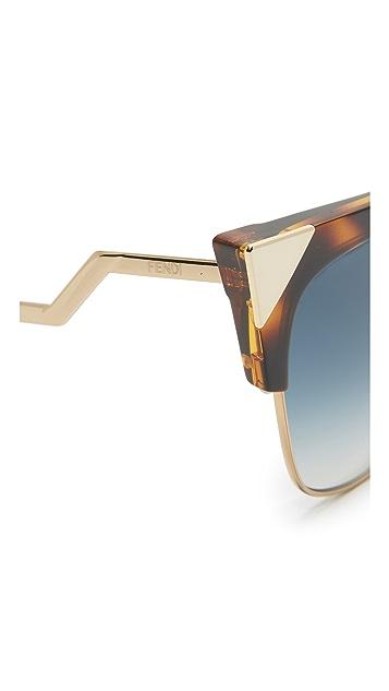 Fendi Iridia 水晶压脚太阳镜