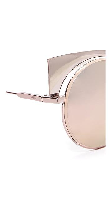 Fendi 猫眼镜面太阳镜