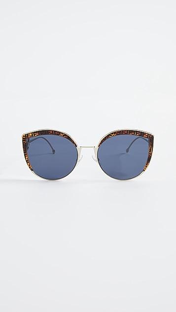Fendi 标志装饰猫眼太阳镜