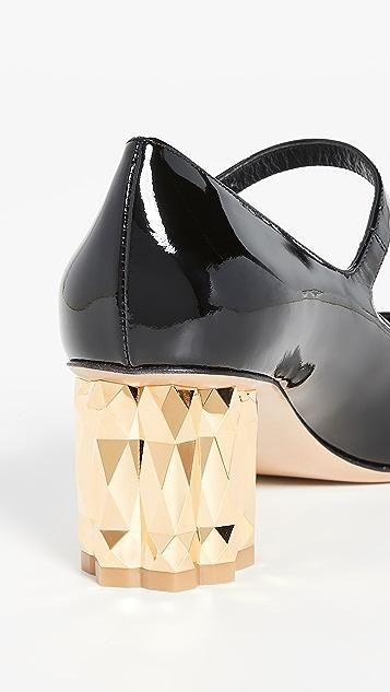 Salvatore Ferragamo 55mm Ortensia 浅口鞋