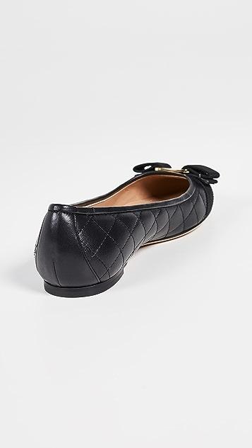 Salvatore Ferragamo Varina 绗缝平底鞋