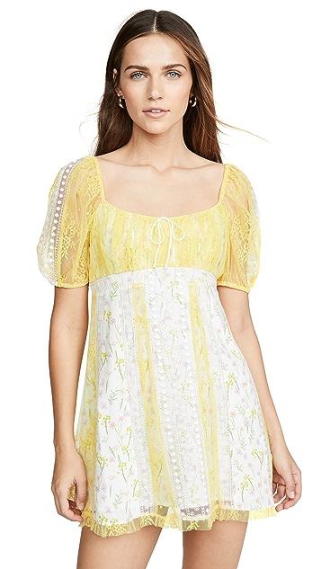 For Love & Lemons Limoncella 迷你连衣裙